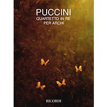 Ricordi String Quartet in D (Full Score) String Series Composed by Giacomo Puccini