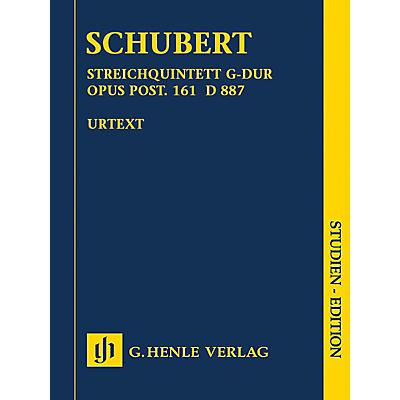 G. Henle Verlag String Quartet in G Major, Op. post. 161 D 887 Henle Study Scores by Schubert Edited by Egon Voss