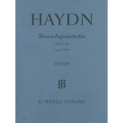 G. Henle Verlag String Quartets - Volume IX Op. 71 and 74 (Appony-Quartets) Henle Music by Franz Josef Haydn