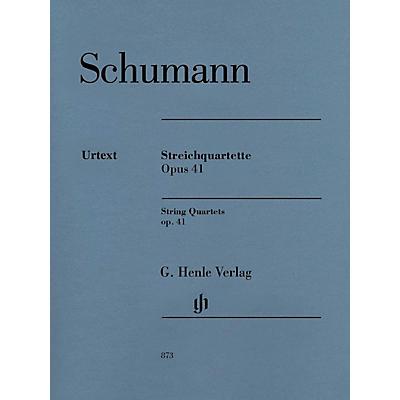 G. Henle Verlag String Quartets Op. 41 Henle Music Folios Series Composed by Robert Schumann