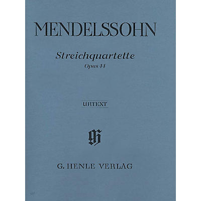 G. Henle Verlag String Quartets Op. 44, No. 1-3 Henle Music Folios Series Softcover Composed by Felix Mendelssohn