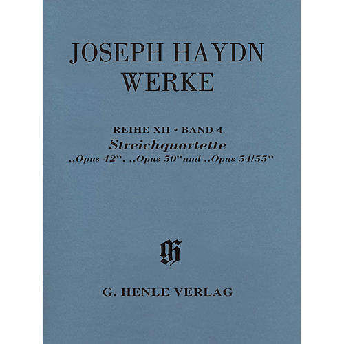 G. Henle Verlag String Quartets, Opp. 42, 50, 54/55 Henle Complete by Franz Joseph Haydn Edited by James Webster