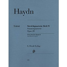 G. Henle Verlag String Quartets, Vol. IV, Op. 20 (Sun Quartets) Henle Music Folios Series Softcover by Franz Josef Haydn
