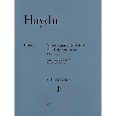 G. Henle Verlag String Quartets, Vol. V, Op. 33 (Russian Quartets) Henle Music Folios Series Softcover by Joseph Haydn