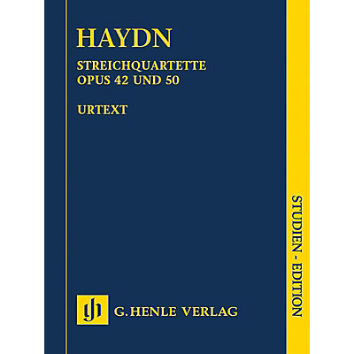 G. Henle Verlag String Quartets, Vol. VI, Op. 42 and Op. 50 (Prussian Quartets) Study Score by Haydn Edited by Webster