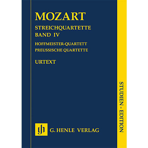 G. Henle Verlag String Quartets Volume Iv (4) Study Score Henle Study Scores Series Softcover by Wolfgang Amadeus Mozart