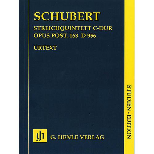 G. Henle Verlag String Quintet C Major Op. Posth. 163 D 956 Henle Study Scores Series Softcover by Franz Schubert