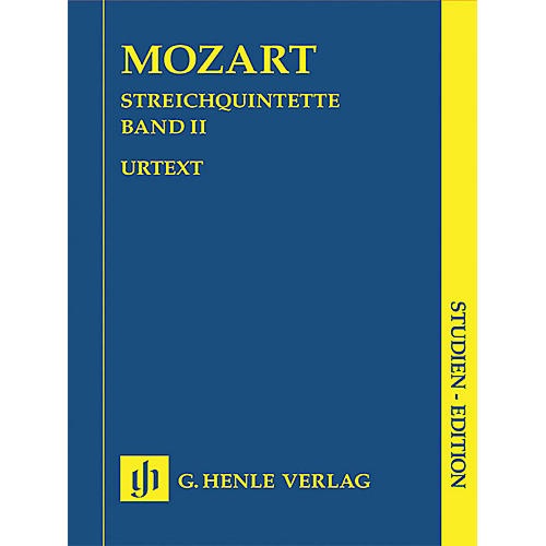 G. Henle Verlag String Quintets - Volume II (Study Score) Henle Study Scores Series Softcover by Wolfgang Amadeus Mozart