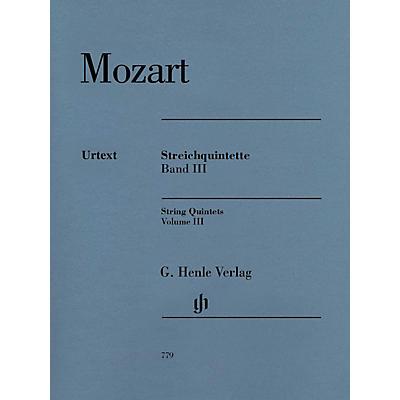 G. Henle Verlag String Quintets: Volume III Henle Music Folios by Wolfgang Amadeus Mozart Edited by Ernst Herttrich