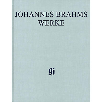 G. Henle Verlag String Sextets, Arrangements for Piano 4-hands Complete Edition Hardcover Composed by Johannes Brahms Edited by Katrin Eich