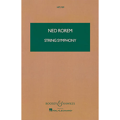 Boosey and Hawkes String Symphony (Study Score) Boosey & Hawkes Scores/Books Series Composed by Ned Rorem