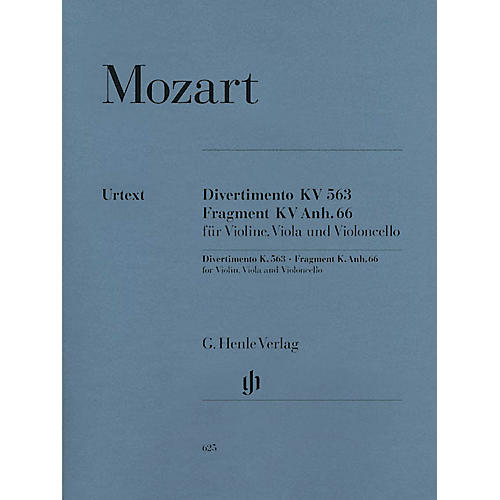 G. Henle Verlag String Trio E Flat Major K.563 Henle Music Folios Series Softcover Composed by Wolfgang Amadeus Mozart