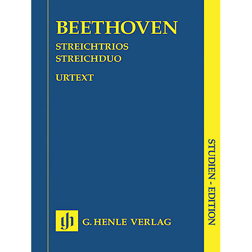 G. Henle Verlag String Trios Op. 3, 8, and 9 and String Duo WoO 32 Henle Study Scores Softcover by Ludwig van Beethoven