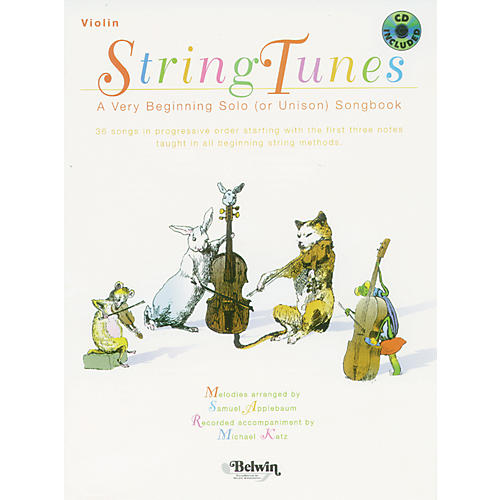 Alfred StringTunes - A Very Beginning Solo (or Unison) Songbook Violin Book & CD