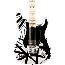 Striped Series Electric Guitar White with Black Stripes