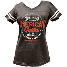 Open Box Martin Striped V-Neck Ladies Tee