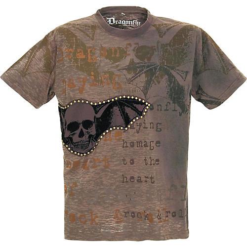 Dragonfly Clothing Studded Skull Wings Men's T-Shirt