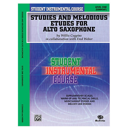 Alfred Student Instrumental Course Studies and Melodious Etudes for Alto Saxophone Level I Book