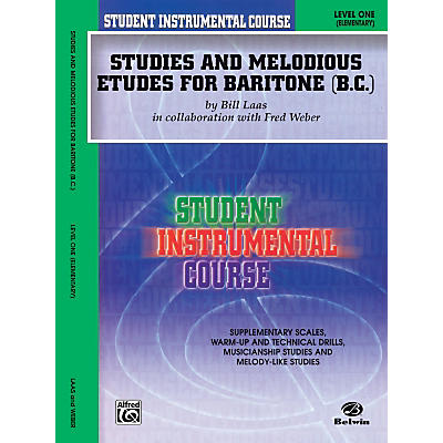 Alfred Student Instrumental Course Studies and Melodious Etudes for Baritone (B.C.) Level I