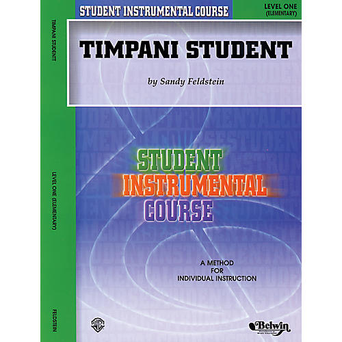 Alfred Student Instrumental Course Timpani Student Level 1 Book