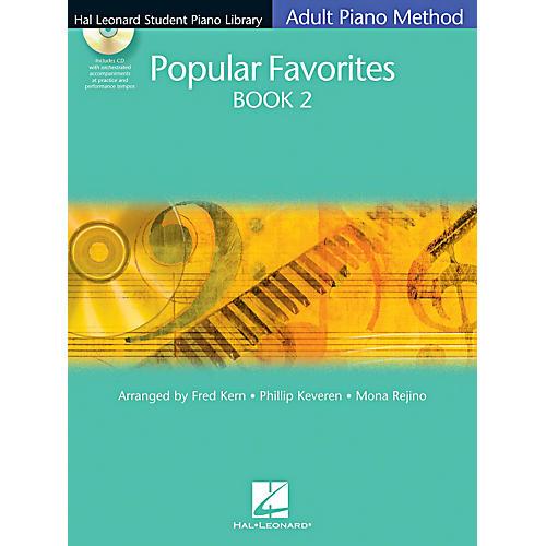 Hal Leonard Student Piano Library Adult Method Popular Favorites Book 2 Book/CD