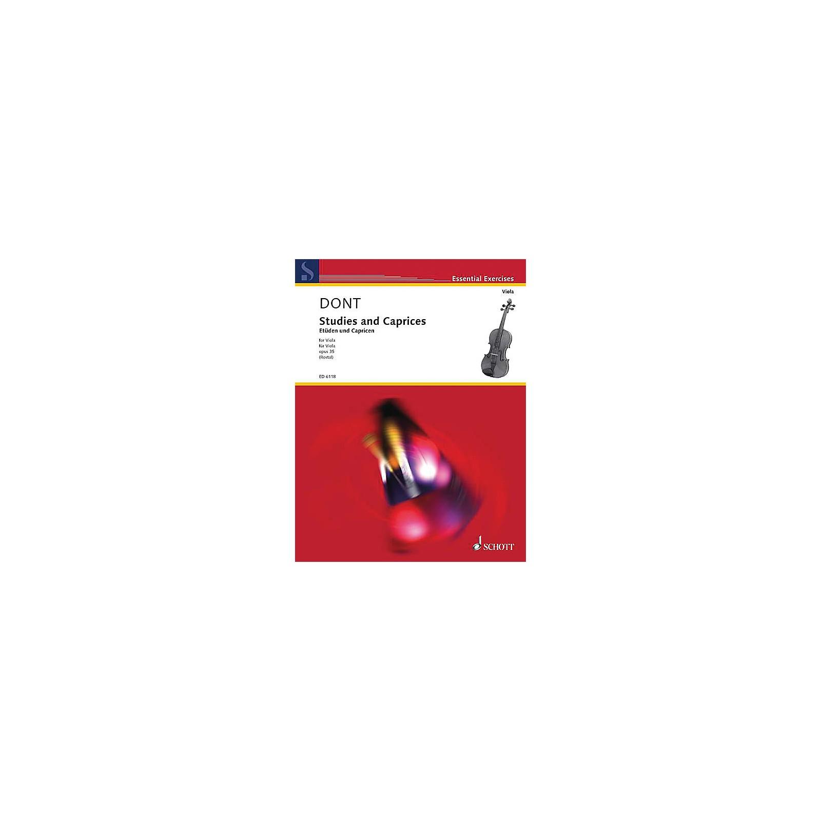 Schott Studies and Caprices (Viola Solo) Schott Series Softcover