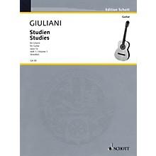 Schott Studies for Guitar, Op. 1a - Volume 1 Schott Series Softcover