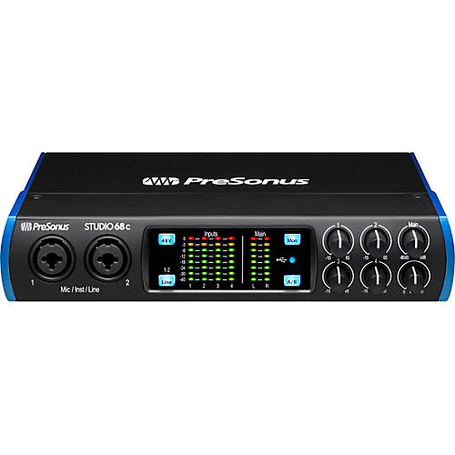 PreSonus Studio 68c USB-C 6x6 Audio/MIDI Interface