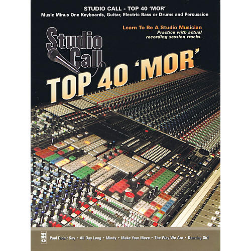 Music Minus One Studio Call: Top 40 'Mor' - Guitar Music Minus One Series Softcover with CD
