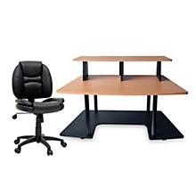 Studio RTA Studio RTA Creation Station Maple and Task Chair DuraPlush Bundle