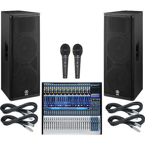 PreSonus StudioLive 24.4.2 PA Package with Yamaha DSR215 Speakers