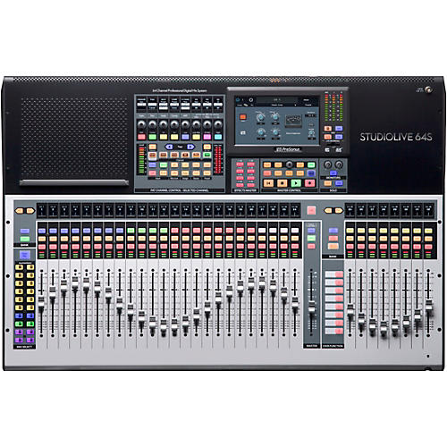 PreSonus StudioLive 64S 64-Channel Mixer with 43 Mix Busses, 33 Motorized Faders and 64x64 USB Interface