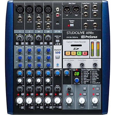 Presonus StudioLive AR8c 8-Channel Hybrid Digital/Analog Performance Mixer