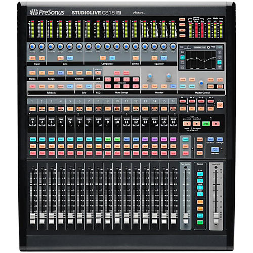 StudioLive CS18AI Ethernet/AVB Control Surface with 18 Touch-Sensitive Moving Faders