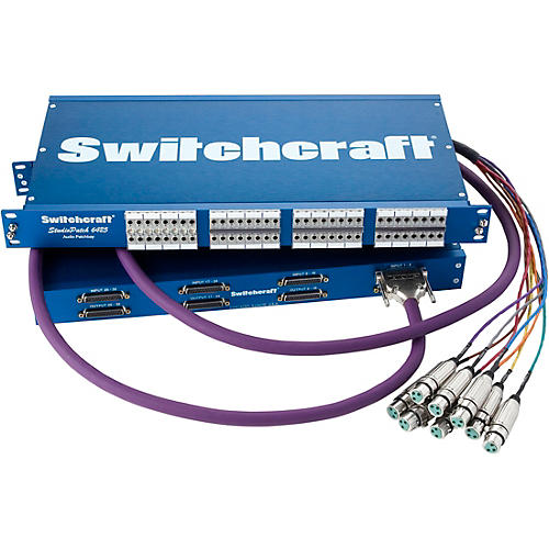 Switchcraft Studiopatch 6425 64 Patch Points To Db25 with Switchable Grounds