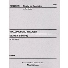 Associated Study in Sonority, Op. 7 (Full Score) Study Score Series Composed by Wallingford Riegger