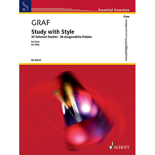 Schott Study with Style (30 Selected Studies for Flute) Schott Series Softcover Written by Peter-Lukas Graf