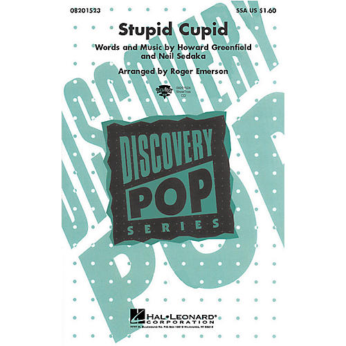 Hal Leonard Stupid Cupid (from The Princess Diaries) (SSA) SSA by Connie Francis arranged by Roger Emerson