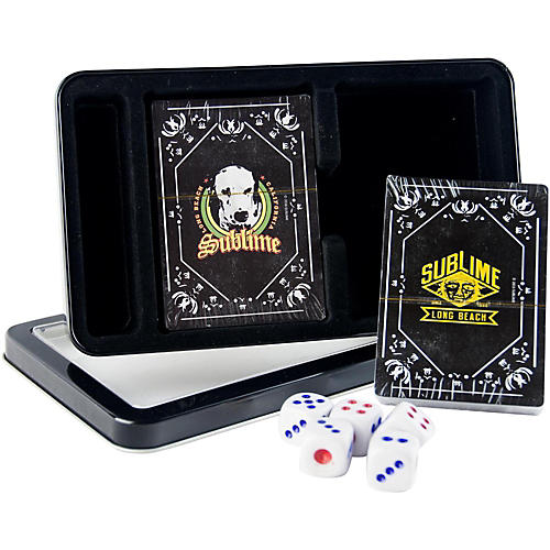 Iconic Concepts Sublime Double Deck Playing Card Set with Dice - Lou Dog and Sublime Logo in Tin Box