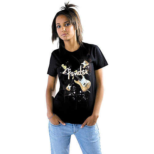 Fender Sugar Strat Glitter Logo Women's T-Shirt