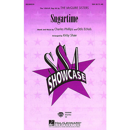 Hal Leonard Sugartime ShowTrax CD by McGuire Sisters Arranged by Kirby Shaw