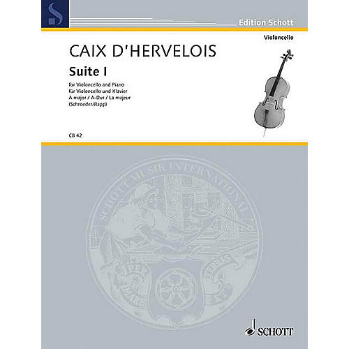 Schott Suite 1 A Major (Cello and Piano) Schott Series
