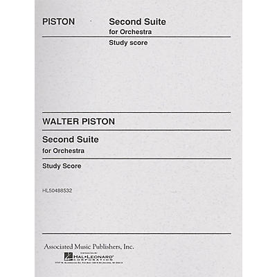 Associated Suite No. 2 for Orchestra (Full Score) Study Score Series Composed by Walter Piston