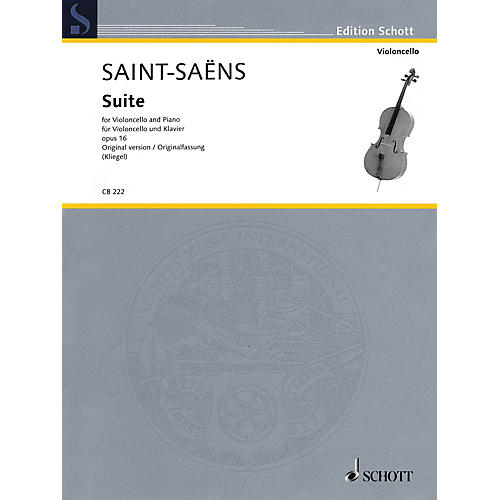 Schott Suite, Op. 16 Schott Series Softcover Composed by Camille Saint-Saëns Edited by Maria Kliegel