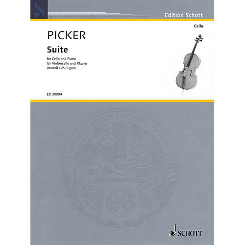 Schott Suite for Cello and Piano Misc Series Softcover