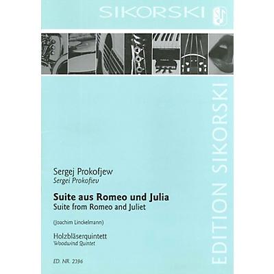 Sikorski Suite from Romeo and Juliet Woodwind Ensemble  by Sergei Prokofiev Arranged by Joachim Linckelmann