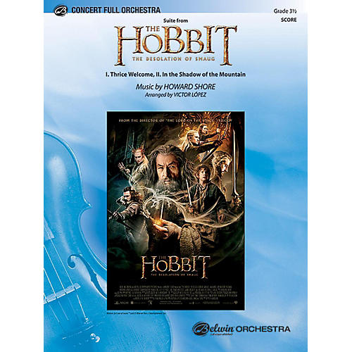 Alfred Suite from The Hobbit: The Desolation of Smaug Full Orchestra Grade 3.5 Set