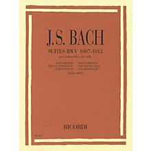 Ricordi Suites, BWV 1007-1012 (Double Bass) String Solo Series Softcover