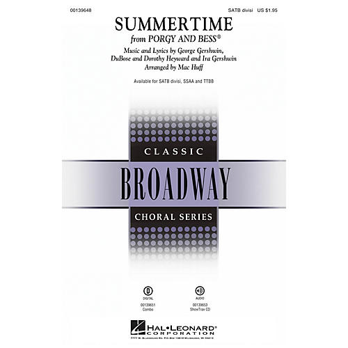Hal Leonard Summertime (from Porgy and Bess) TTBB Arranged by Mac Huff