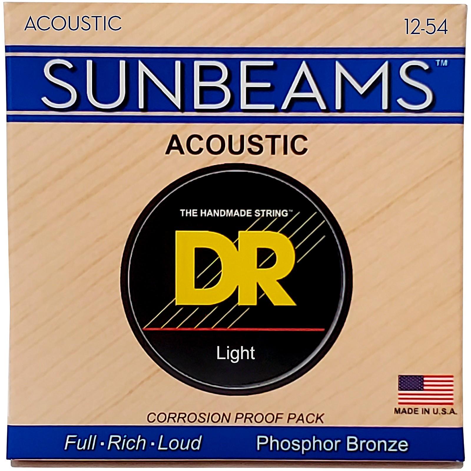 DR Strings Sunbeam Phosphor Bronze Light Acoustic Guitar Strings